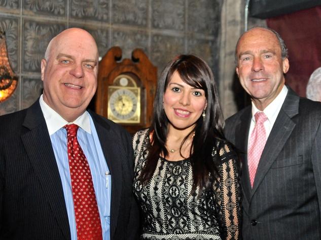 Wayne Klotz, from left, Morena Arredondo and Eric Andell at the Mayor's Hispanic Advisory Board Holiday Party December 2013