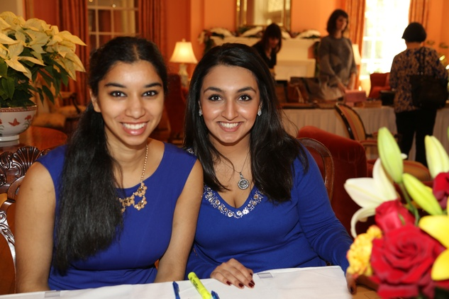 70 Anita Naik, left, and Azmae Bhatti at the Chloe Dao luncheon for Pratham December 2014