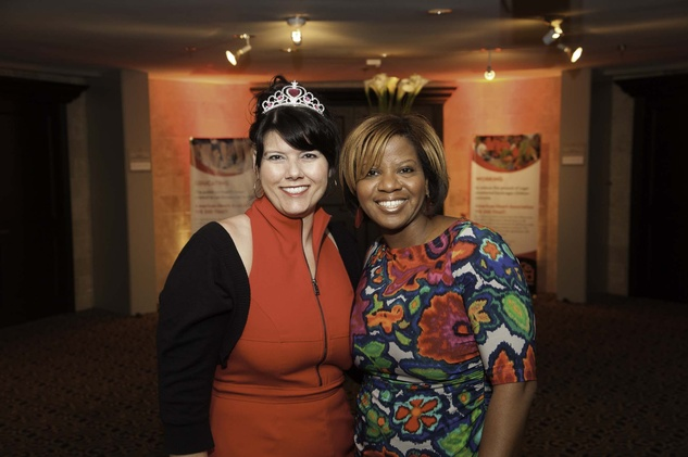 Michelle Stein, left, and Myra Robinson at the Go Red For Women luncheon May 2014