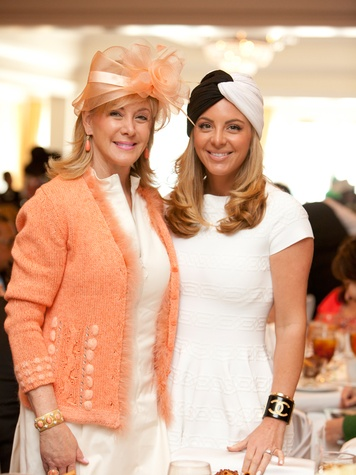 Sheridan Williams, left, and Kristin Nix at Hats Off to Mothers March 2014