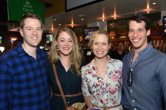 Kris and Paige Branam, from left, and Elizabeth and Bryan Blackmur at the Women of Wardrobe Spring Fling March 2014