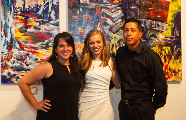 News, Shelby, Muir Gallery mural party, July 2015,  Megan Bourassa