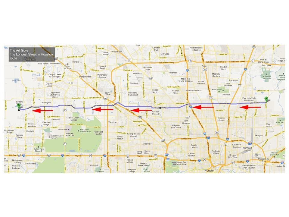 The Art Guys, Little York, route, map