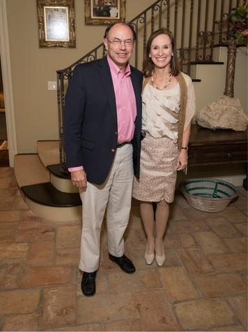 Janie and Pat Hamner, Art Ball Kickoff Party