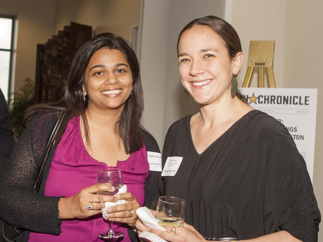 Meghna Goswami and Ashley Kaper at Human Rights First office launch