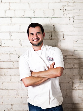 David Cordúa with chef coat on September 2013