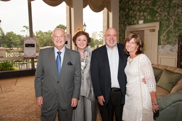 14 Russ and Judy Labrasca, from left, and Bill and Glenanne Robinson at the Houston Heart Ball Kickoff at River Oaks Country Club October 2014