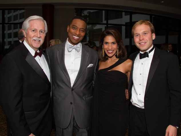 Bruce Vincent, from left, Khambrel Marshall, Rachel McNeill and Pierce Bush at the Big Brothers Big Sisters Gala September 2014