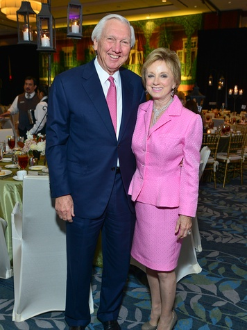 Larry and Susie Johnson at the Memorial Hermann Razzle Dazzle Pink Luncheon October 2013 THIS.jpg