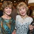 Carolyn Williams, left and  Joanne King Herring at the Abraham's Oriental Rug dinner September 2014