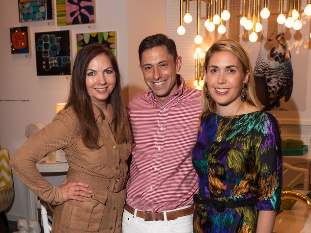 Jonathan Adler Houston April 2013 Lauren Rottet, Jonathan Adler, Leslie Hull