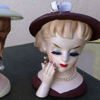 Lady head vases