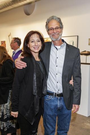 11 Maria Monte de Oca Robinowitz and Bob Robinowitz at the Art on the Avenue benefit November 2014