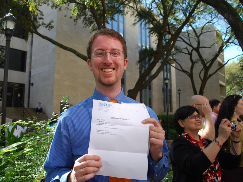 University of Texas Health Science Center, Match Day, March 2013, Anthony Burton