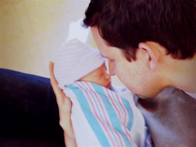 Henry Hager with baby Mila