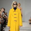 Michael Kors spring 2015 look 7 daffodil coat and cropped jean