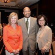 5611 Alicia Blaszak, from left, Michael Pearson and Chimei Lin at the Girls Inc. luncheon May 2014