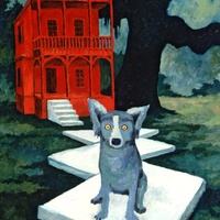 Houston, Rodrigue Exhibit at West Ave, June 2015, Watch Dog