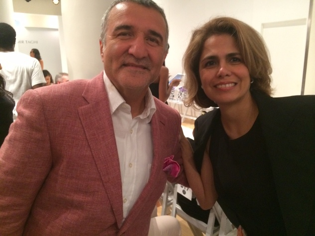Iraj and Farida Taghi at Amir Taghi fashion show