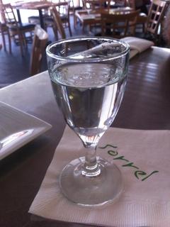 Sorrel Urban Bistro glass of vodka