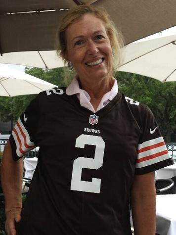 Debbie Hartman in Johnny Manziel jersey