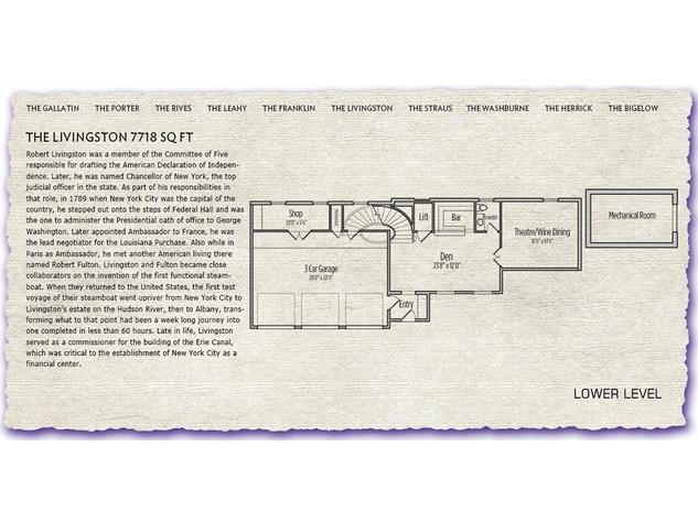 Röhe & Wright's Saint Honoré Floorplan for $3.15 million townhome