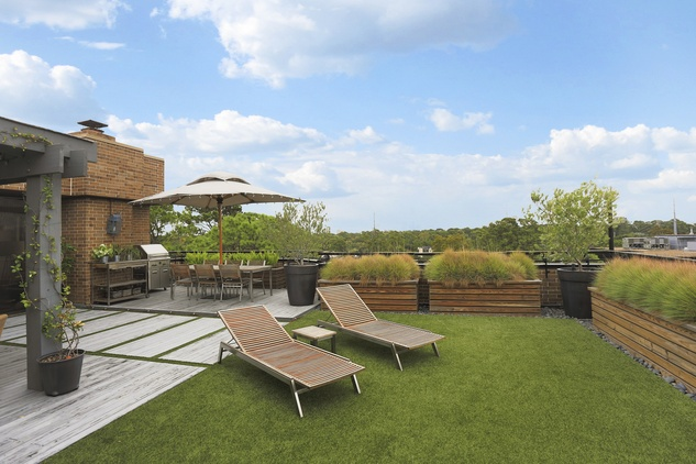 11 On the Market 21 Briar Hollow 802 penthouse with rooftop garden June 2014 terrace