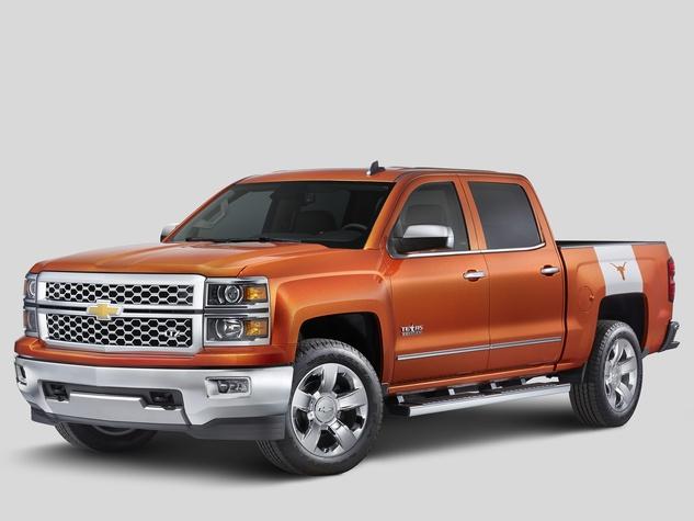Chevrolet University of Texas pickup truck