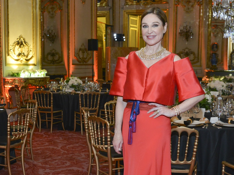Becca Cason Thrash at Luxembourg Palace dinner June 2013