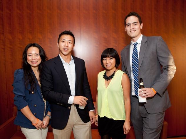 112 Eva Sagisaka, from left, Kris Teng, Tina Zulu and Robbie Carman at the Leo Bar relaunch party October 2013
