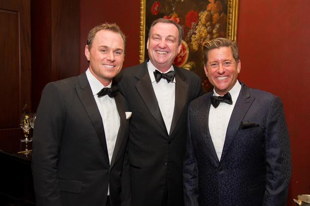 2 Andrew Cordes, from left, Ralph Burch and Brian H. Teichman at the Alley Theatre's Wild Things dinner November 2013