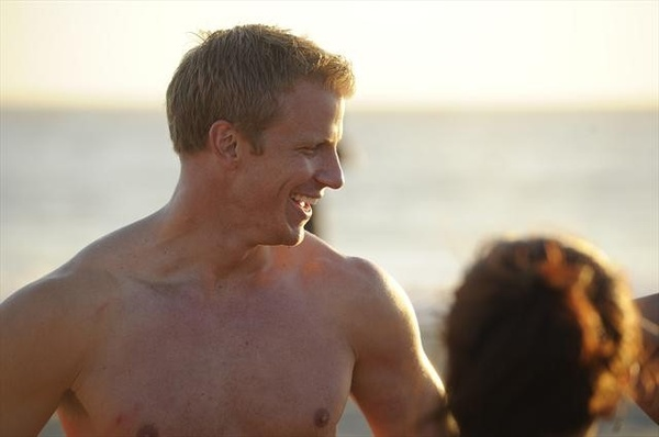 The Bachelor, Sean Lowe, shirtless