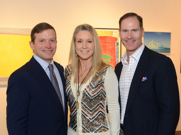 2 J.B. and Marita Fairbanks, from left, with James Bell at the Texas Contemporary Art Fair VIP opening party October 2013