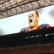 Houston Texans Reliant Stadium scoreboard J.J. Watt August 2013