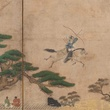 13A, MFAH, Unrivalled Splendor, Japanese art, June 2012, Folding Screene with Equestrian Archery Drill