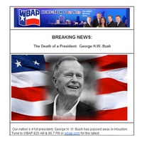 George H.W. Bush, false death announcement, WBAP, December 2012