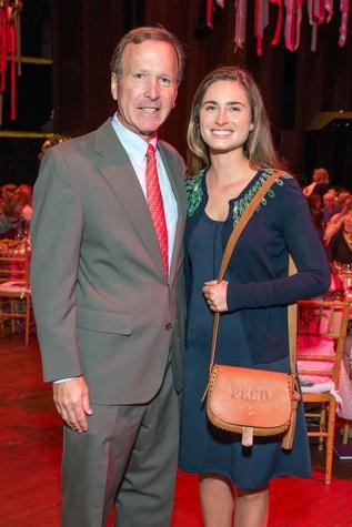 Neil Bush and Lauren Bush Lauren at the SPA luncheon with Lauren Bush Lauren October 2014