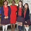 Students from Irma Rangel, Principal Vivian Taylor