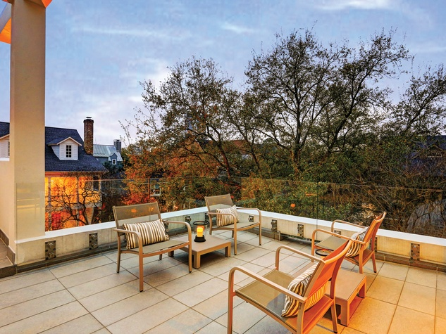 21 On the Market 2212 Salisbury St. River Oaks April 2015terrace sitting area with tree top views