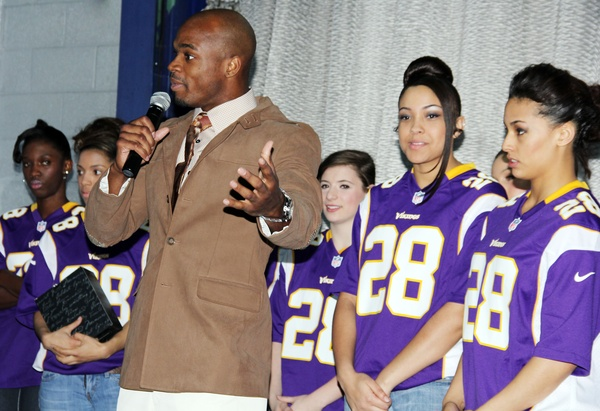 Adrian Peterson fashion show, February 2013, Adrian Peterson