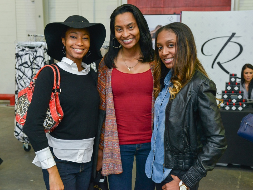 26 Ebony Fondren, from left, Cindy Carter and Sherra Jones at the CultureMap Pop-Up Shop December 2014