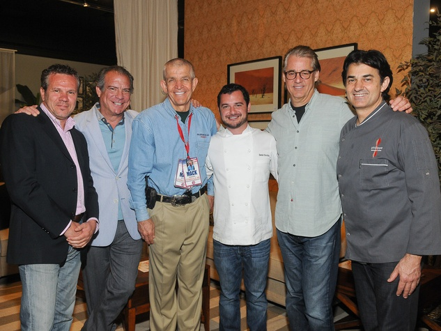 Gallery Furniture Chef Collection, April 2013, Efisio Farris, Michael Cordúa, Jim McIngvale, David Cordúa, Robert Del Grande, Philippe Schmit