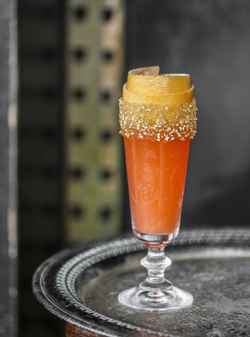 Alba Huerta Julep pomelo crusta cocktail