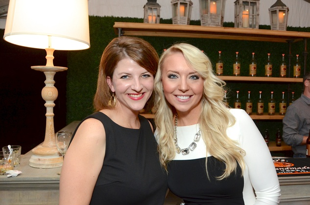 Catie Brow, left, and Audrey Kimich at the Butler Brothers party November 2014