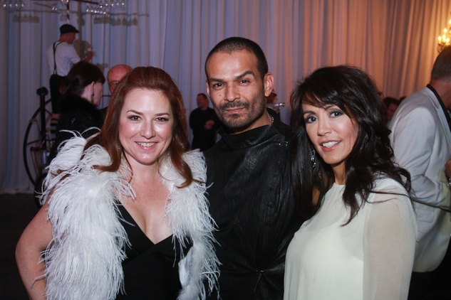 321 Donae Chramosta, from left, Todd Ramos and Diane Caplan at Lucinda Loya's birthday celebration February 2014