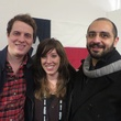 Stephen Jannise, Sarah Harris, Ramtin Nikzad at Texas Film party at Sundance Film Festival January 2014