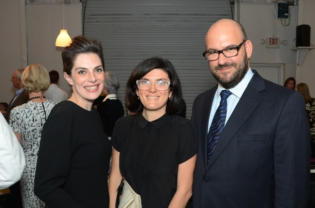 Nancy Douthey, from left, Alexia Bonomi and Guest at the Aurora Picture Show Awards dinner October 2014