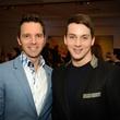 648 Cody Soutai, left, and Jonathan Blake at the Barbara Hines Art Opening in Dallas October 2014