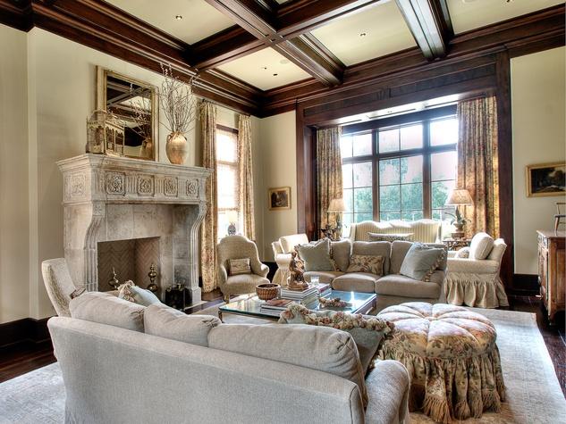 Houston, most expensive homes, 1722 River Oaks Blvd., January 2013, living room