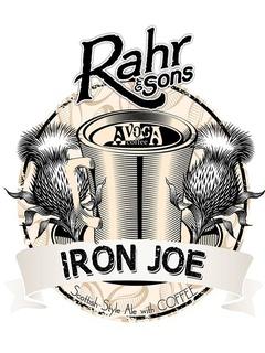 Rahr & Sons Iron Joe coffee beer label